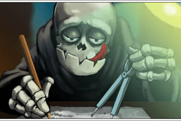 The Grim Reaper formulates his plan in the opening animated cinematic.