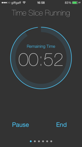 Set the timer going and it'll count down, alerting you at five minute intervals