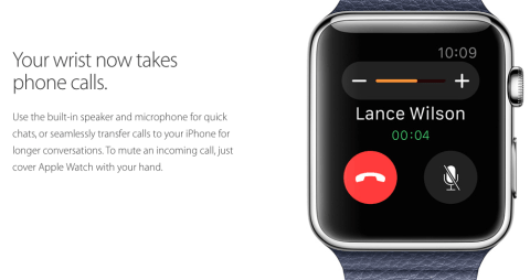 Take phone calls on the Apple Watch