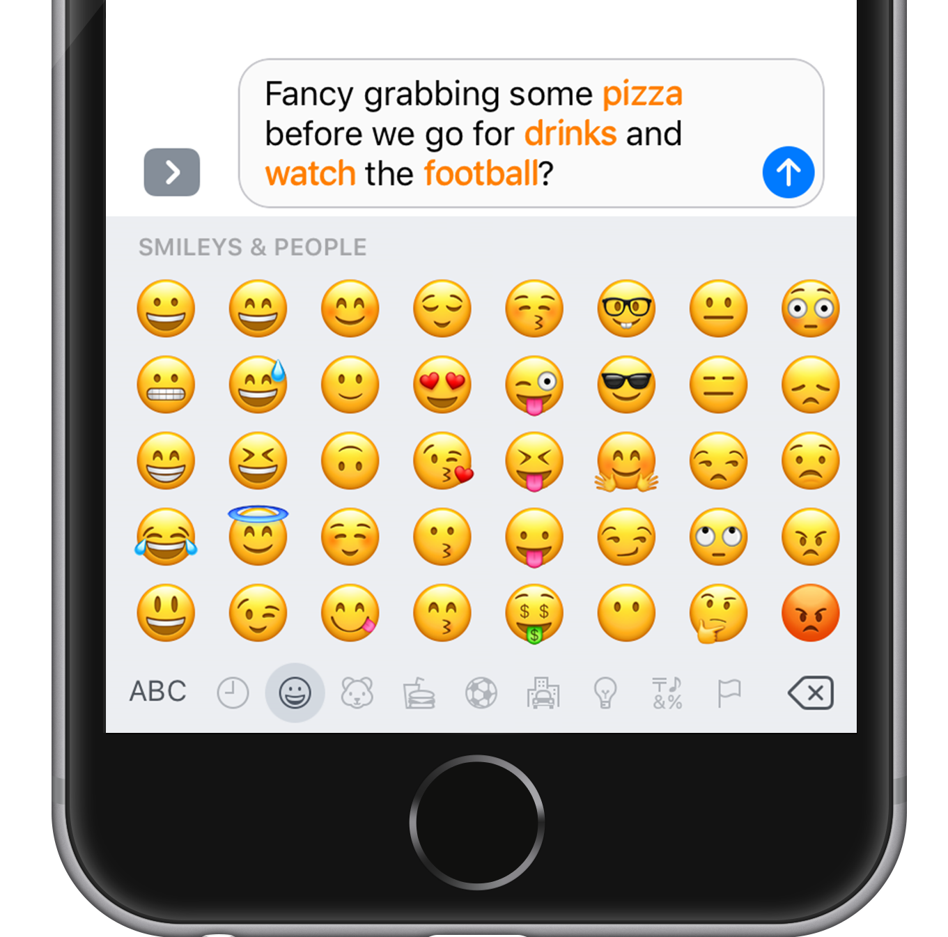 Emoji suggestions: quickly replace words with emojis | iOS