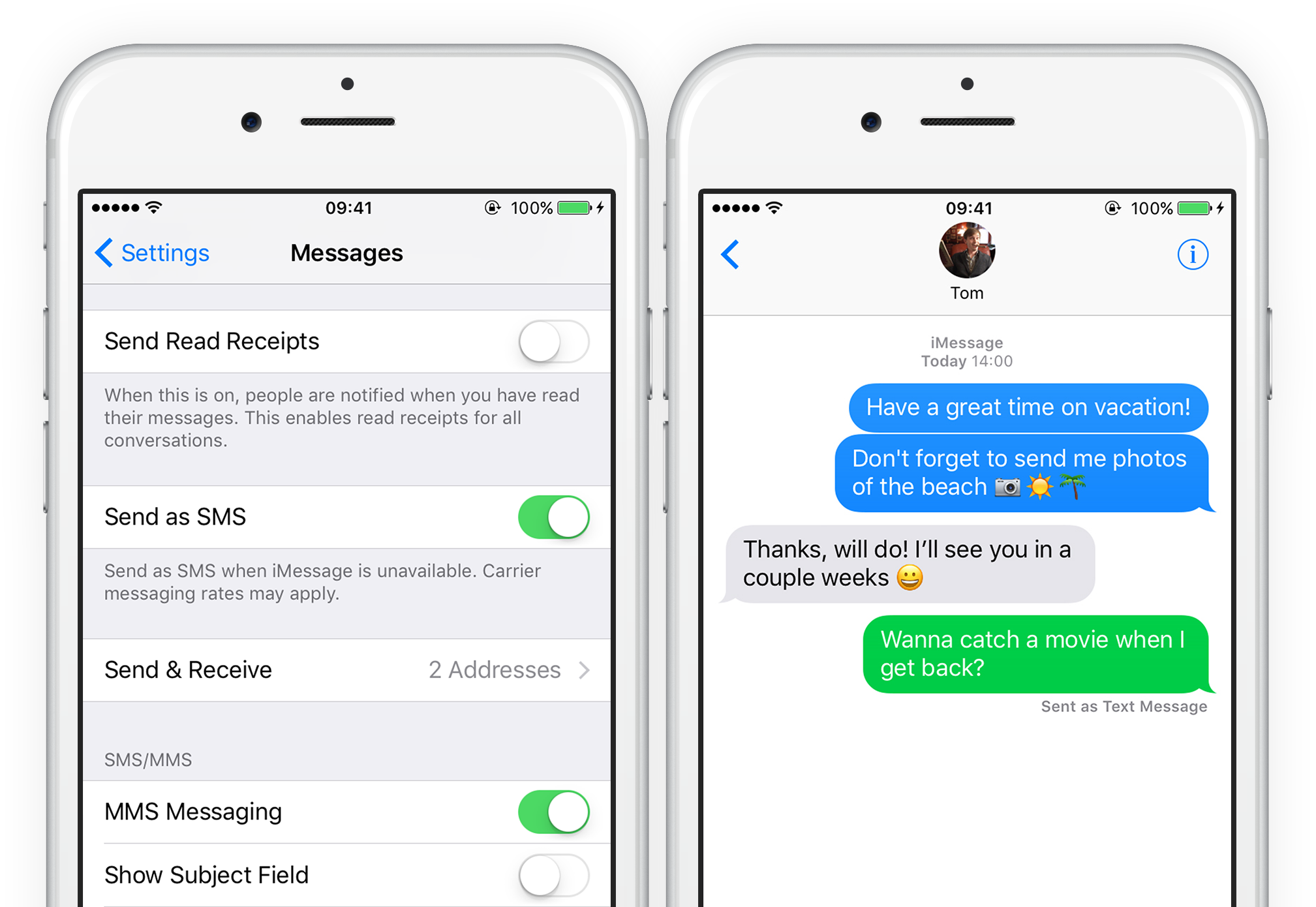 Text messages: send an iMessage as an SMS | iOS 13 Guide
