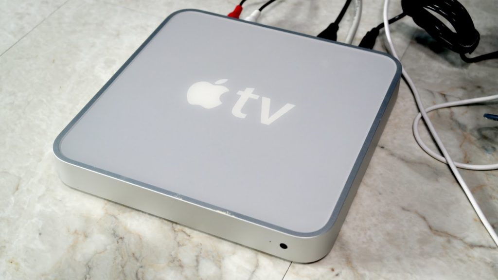 The first Apple TV looked very different from its current black design. It also pre-dates the iPhone