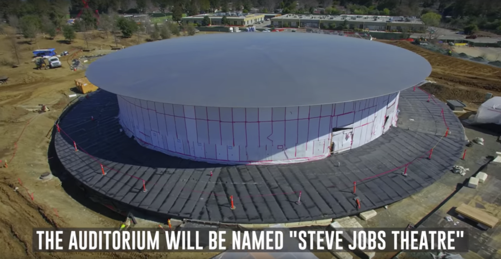 The Park will house an auditorium called Steve Jobs Theater
