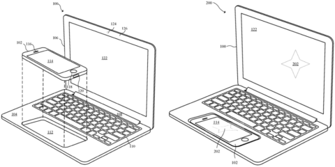 The illustrations show the intended use for the potential new device