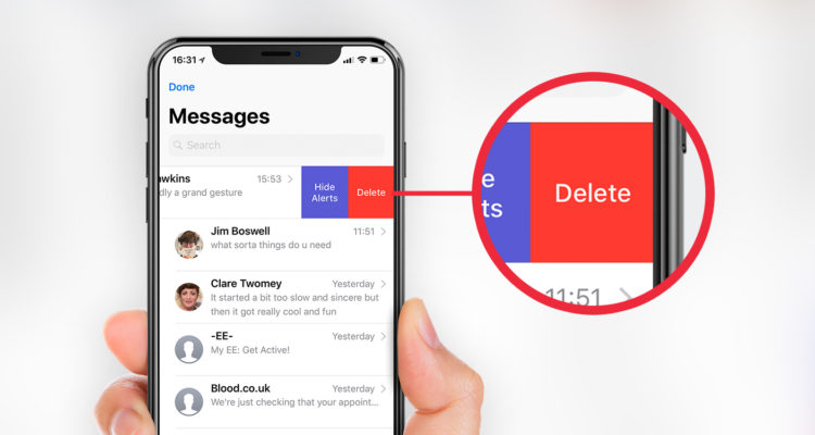 Deleting messages: three ways to trash messages - TapSmart